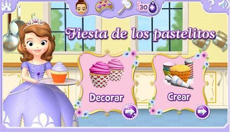 Juego de Princesa Sofía, crea y decora pasteles | Todo Peques