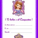 Invitaciones de Cumpleaños con Sofía la Princesa