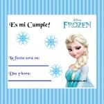 Invitación de Cumple con Elsa de Frozen