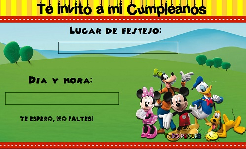 Mickey Mouse Clubhouse Invitation Template was luxury invitation template