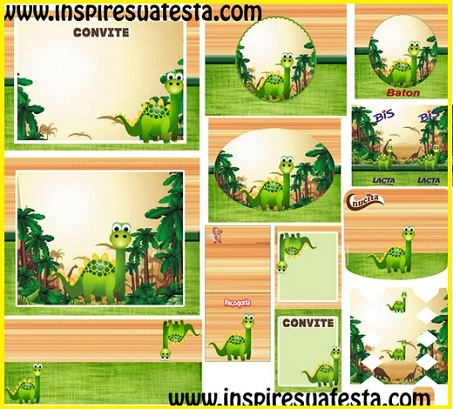 Tarjetas de invitación para fiestas infantiles de dinosaurios - Imagui