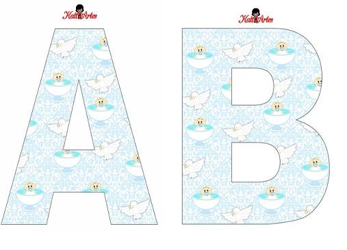 alfabeto de angeles para bautismo