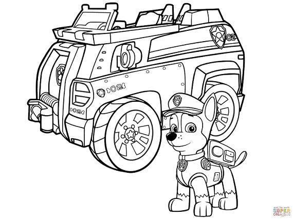 Chase Paw Patrol Dibujos Todo Peques