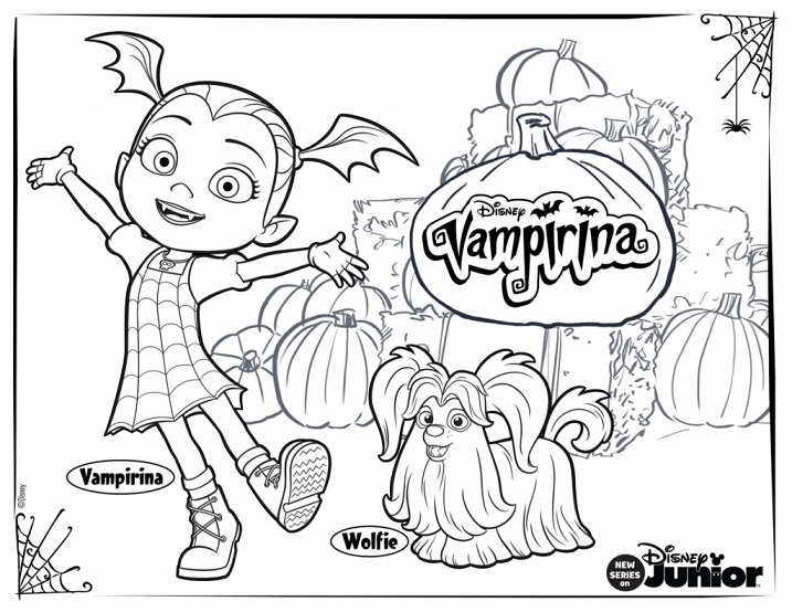Disney Coloring Pages Vampirina 101380coloringmewarnaisite