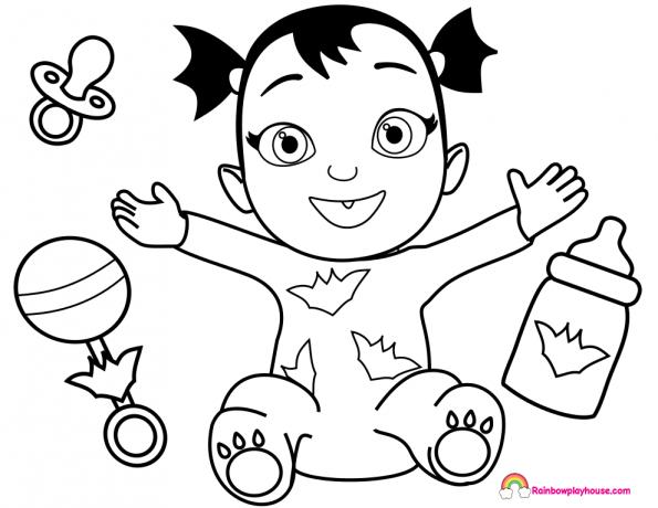 Dibujos De Bebes Disney Para Imprimir: Vampirina Dibujos Para Imprimir Y Colorear