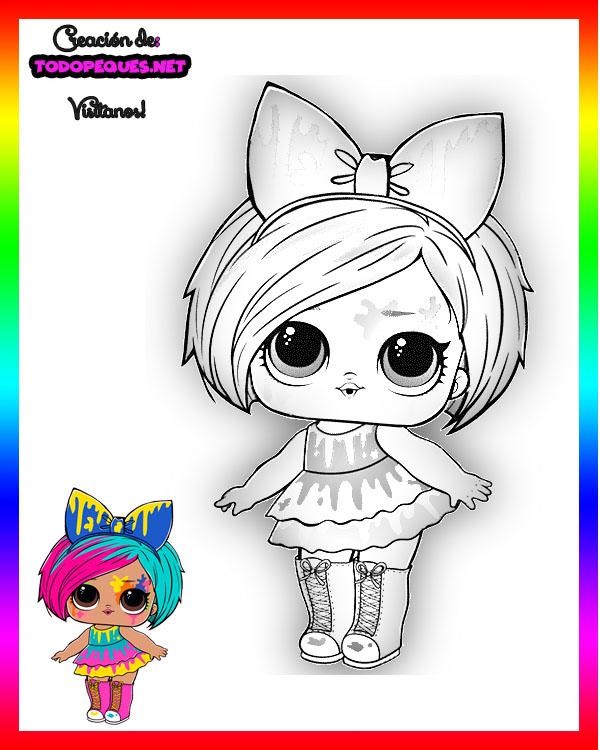 Dibujos Para Colorear Lol Surprise Serie 5 Hair Goals Todo Peques
